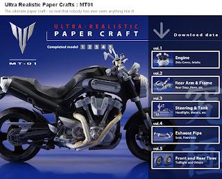 yamaha origami15 Papercraft   Assemble Yamaha Motor Sport With Paper