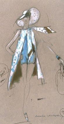 Dessins préparatoires des costumes pour « Borsalino » (réal. : Jacques Deray, 1970)