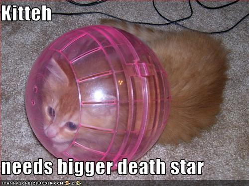 Comedy Continent I posted the glorious mixture of Lolcats and Star Wars.
