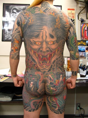 Amazing Japanese Demon Tattoo
