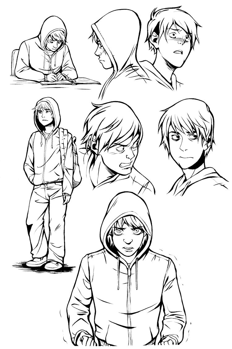 Character Design Graphic Novels : Tally art december