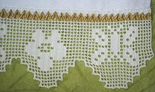 Kelebek motifli havlu danteli