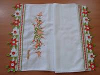 çiçekli havlu danteli