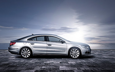 Side view of silver 2011 Volkswagen CC Sport