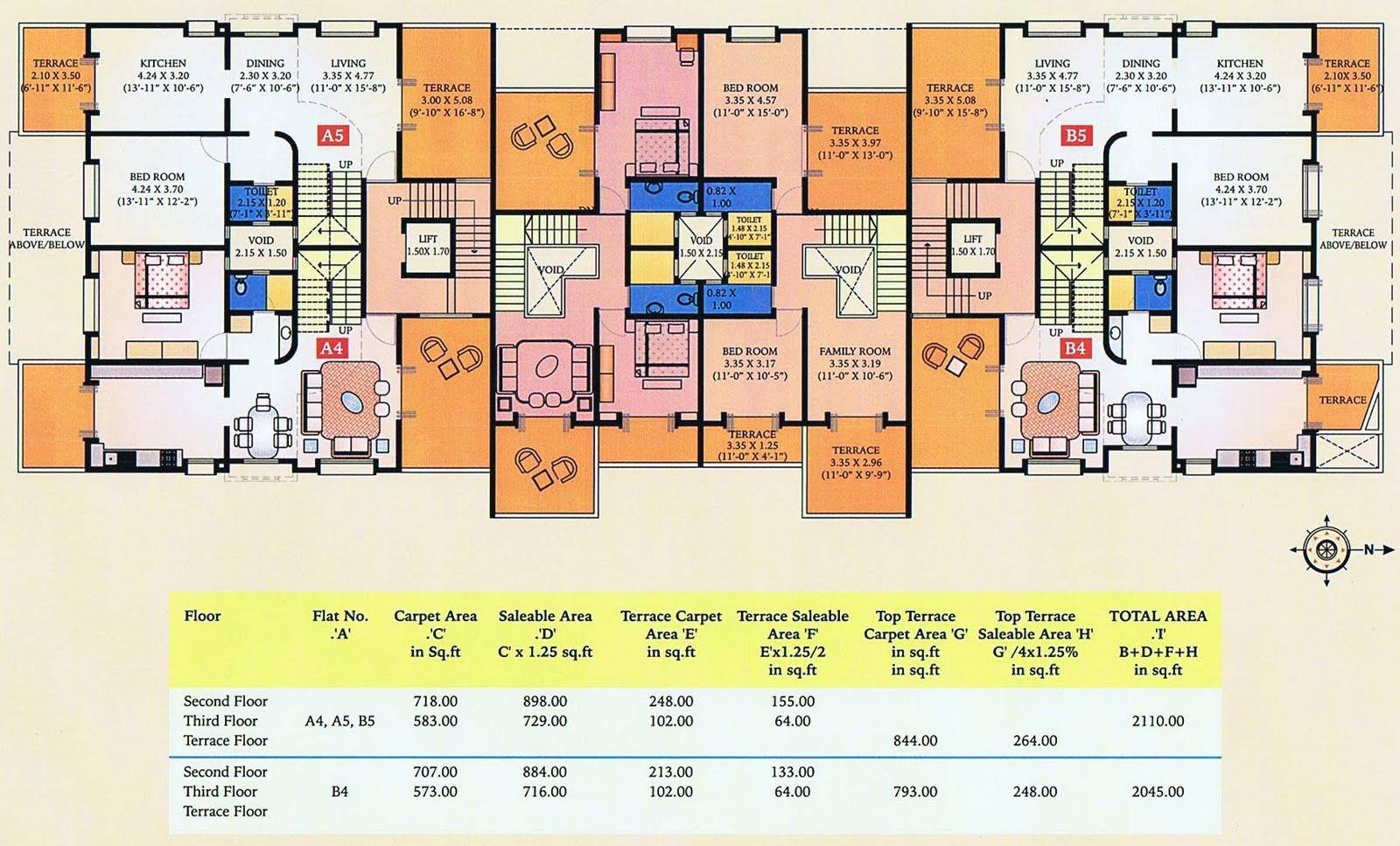 B3 Duplex Bedrooms Floor Plan