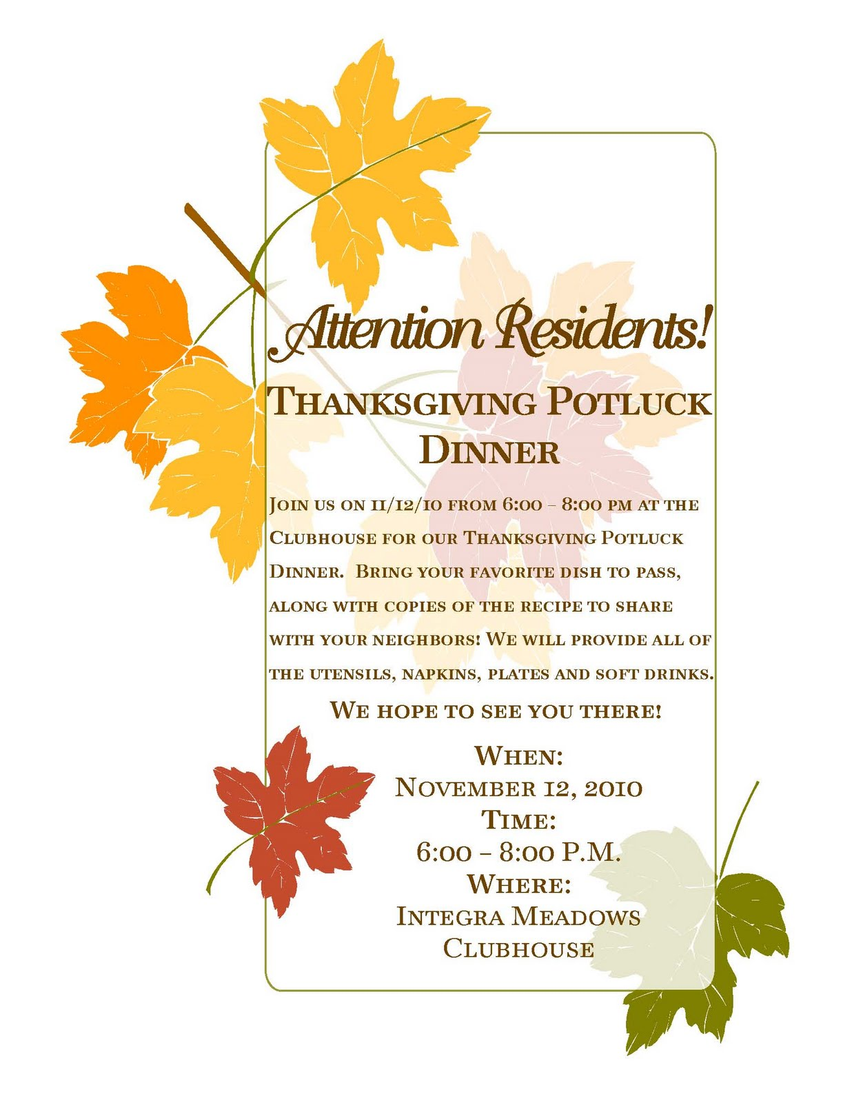 Potluck Email Invitation with luxury invitations template