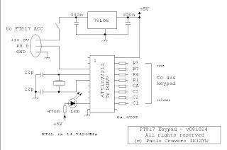 IK1ZYW Labs  FT817    keypad     circuit    diagram