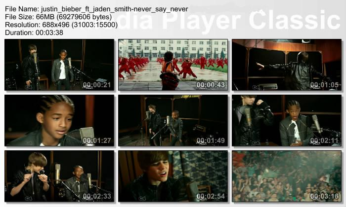 Never Say Never Justin Bieber Jaden Smith. MV : Justin Bieber Ft Jaden