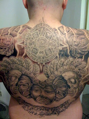 Aztec tattoo styles originate through the ancient & noble Aztec culture,