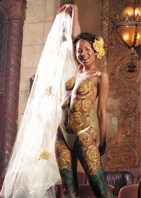 Floral Body Painting
