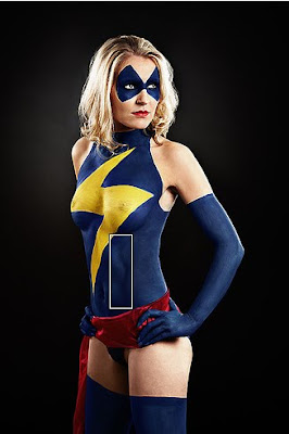 Ms Marvel Body Painting