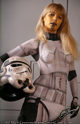 Storm Trooper Body Painting