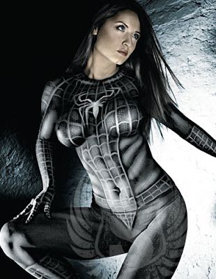 Spidergirl Body Painting