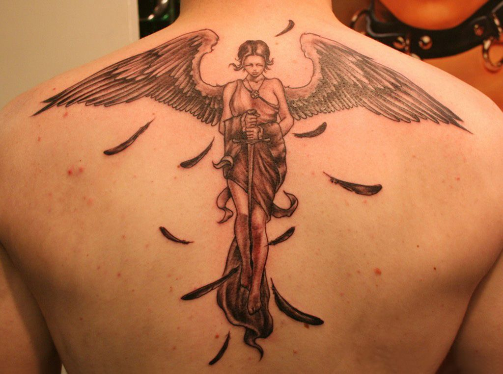 Art body painting ideas beautiful angel tattoos for Beautiful body tattoo