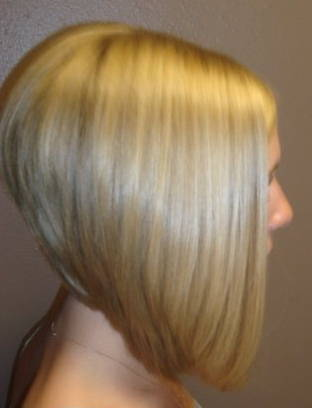 Severe Angled Stacked Bob Hairstyles
