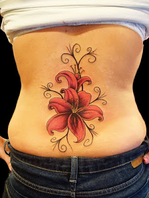 Popular Female Tattoo Designs - Flower Tattoos