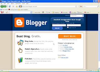 Buat blog tahap pertama
