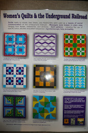 Quilt designs used during the underground movement