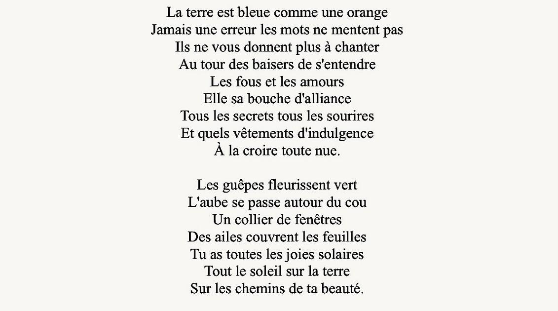 Bleue comme une orange la nuit des mers des Suds: Paul Eluard, La ...
