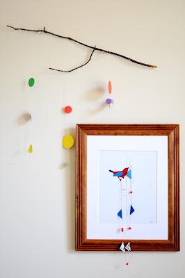 bird bunting art