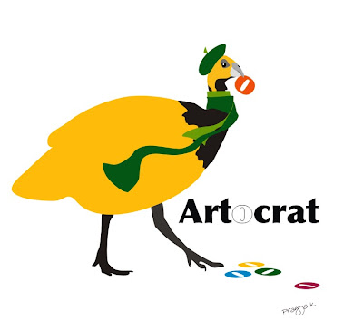 , Mr Crat of ArtOcrat , bird art of the day