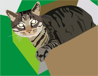 pet of the day,cat art