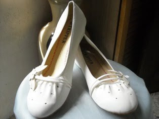 White Butterfly Motif Covered Shoe