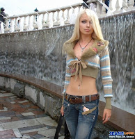 Russia the most beautiful jeans model