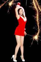 Chinese girl's sexy Christmas