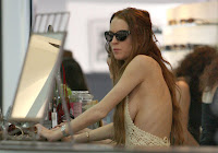 Lindsay Lohan's Breasts Give Their Own Peepshow