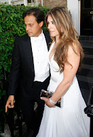 Elizabeth Hurley heading to Elton John's White Tie And Tiara Ball