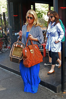 Jessica Simpson Wearing An Old Lady Dress And Cardigan