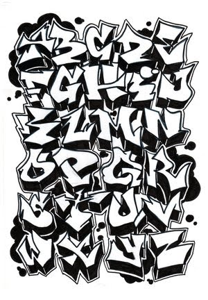 Graffiti Fonts Graffiti Alphabet Letters. Graffiti Alphabet A to Z in a