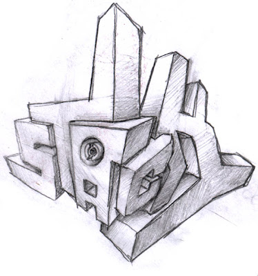 Graffiti Sketch Stack 3D