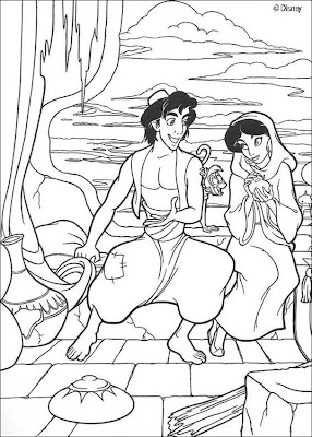 Disney Princess Coloring Pages,Aladin Coloring Pages