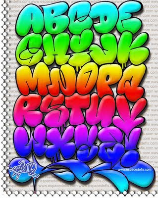 letras de graffiti. abecedario de graffiti.