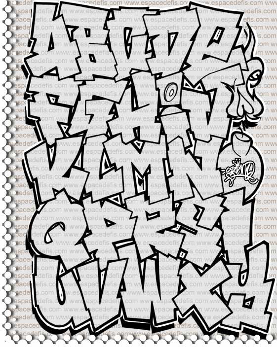 Graffiti black and white on paper alphabet graffiti a graffiti