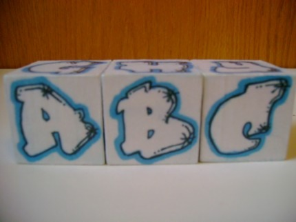 Rockin' Blocks Graffiti Alphabet Blocks. GRAFFITI LETTERS ABC