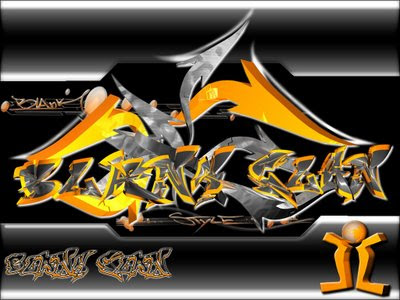 "Digital 3D Arrow Graffiti Alphabet ""Gold Black Gray"" with 3 Color Combinations of Extreme"