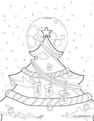 disney coloring pages for kids. Christmas Tree Coloring Page