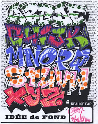 Graffiti sketches | Graffiti alphabet letters pictures a-z. Style Wildstyle