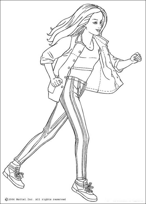 coloring pages for girls barbie. sport colouring pages
