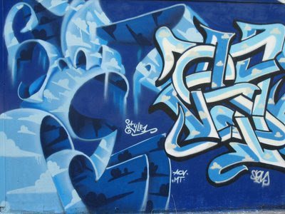 freestyle graffiti murals