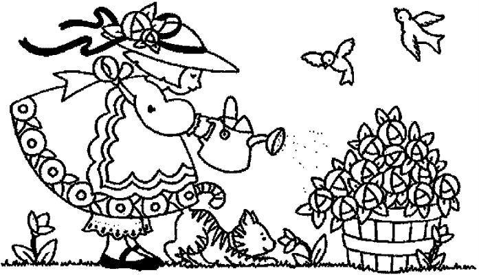 easter winnie the pooh with basket of eggs free coloring