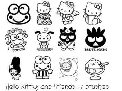 Hello Kitty and Friends Coloring Pages. PRINT THIS PAGE
