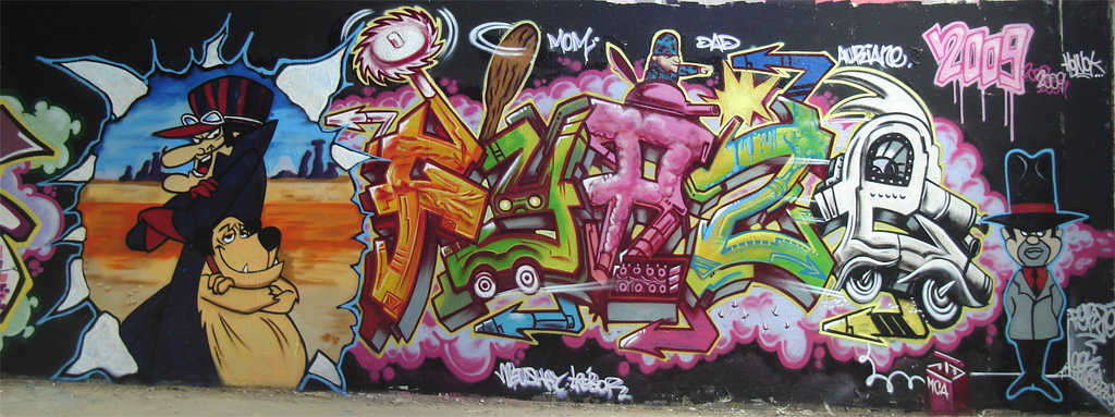 Graffiti walls mural graffiti letters fyrze in paris for Graffiti mural