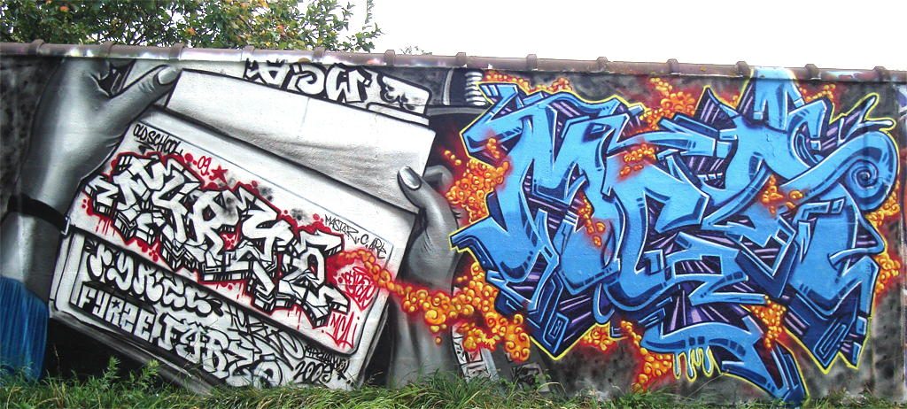 Mural graffiti letters fyrze in paris france by fyrze for Graffiti mural