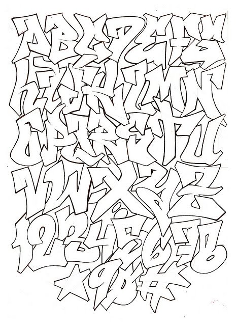 graffiti alphabet flava