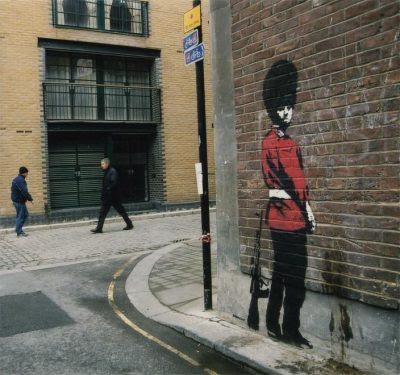 banksy graffiti. anksy graffiti