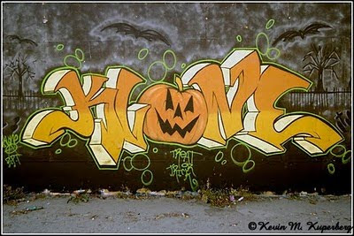 Graffiti Halloween,Graffiti Alphabet